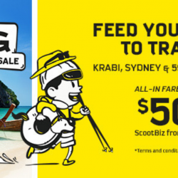 Scoot: GTG Sale with All-In Fares to Krabi, Sydney & 59 Other Cities from SGD50!