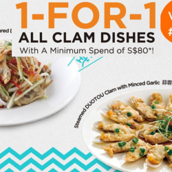 Putien: Enjoy 1-for-1 All Clam Dishes at VivoCity in April!