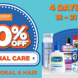 Guardian: Get 30% OFF All Personal Care Items Including Bath, Hair & Oral Care!