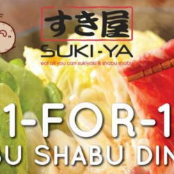 Suki-Ya: Enjoy 1-for-1 Shabu Shabu Dinner at Tampines Mall!