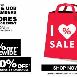 Metro: Closed-Door Event for Metro & UOB Cardmembers with Up to 80% OFF Storewide & 20% OFF Cosmetics & Fragrances!