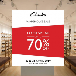 40459c4e5 27 - 28 Apr 2019 Clarks Singapore  Warehouse Sale with Up to 70% OFF  Footwear