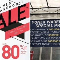 Yonex: Warehouse Sale 2019 with Up to 80% OFF Racquets, Apparel & Shoes!