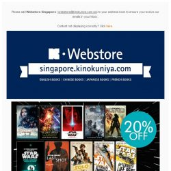 [Books Kinokuniya]  May the Force be with you this May with exclusive promotions on Kinokuniya Webstore Singapore.  Shop NOW!