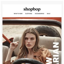 [Shopbop] Hit the road in our latest spring styles