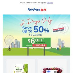 [Fairprice] Weekend Sale: Save up to 50%!