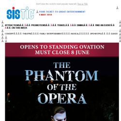 [SISTIC] The Phantom of the Opera, now playing until 8 June.