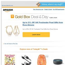 [Amazon] Up to 25% Off 14K Freshwater Pearl Gifts from...