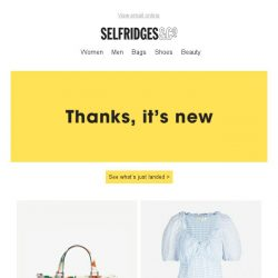 [Selfridges & Co] Get acquainted with our newest womenswear arrivals