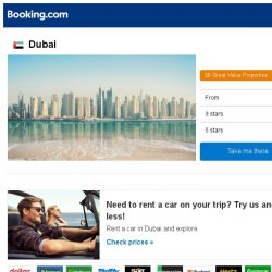 [Booking.com] Deals in Dubai from S$ 42
