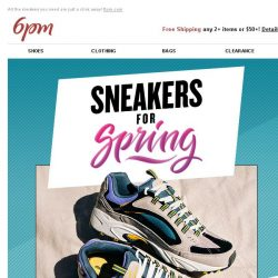 [6pm] Sneakers on sale from SKECHERS, Nike, adidas & Tommy Hilfiger!