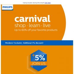 [PHILIPS] Get up to 60% off this 18-20 May at the Philips Carnival!