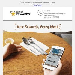 [Starbucks] App Exclusive: Start the week with a brand new treat 🎁
