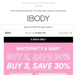 [Cotton On] Calling all Mums & Mums-to-be 🍼💕 30% OFF