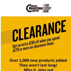 [Chain Reaction Cycles] Clearance: New. Lines. Added 🔥