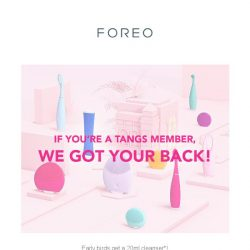 [Foreo] Bring Down Your Old Facial Cleansing Devices For Exclusive Deals!
