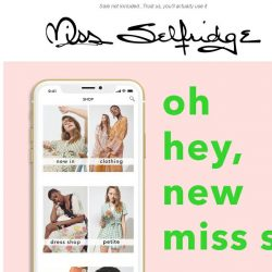 [Miss Selfridge] 20% off with our shiny new app 