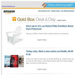 [Amazon] Save up to 35% on Select Patio Furniture Items...