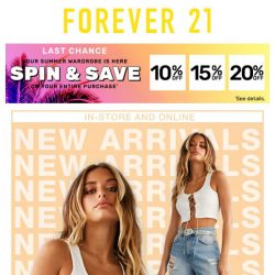 [FOREVER 21] IT'S NEW.