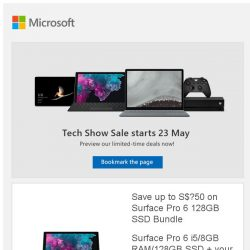 [Microsoft Store] Tech Show Sale Preview: Great deals on Surface devices