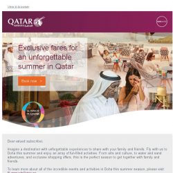 [Qatar] Experience summer in Qatar. Save up to 25% on flights to Doha