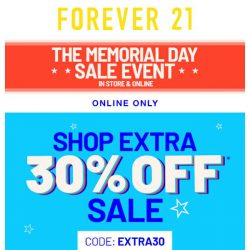 [FOREVER 21] HAPPY MEMORIAL DAY