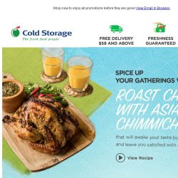 [Cold Storage]  Here's a chicken recipe to spice up your next gathering!