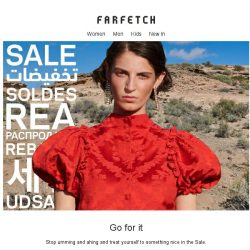 [Farfetch] Time's running out for 50% off