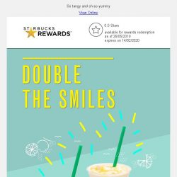 [Starbucks] Enjoy a 1-for-1 treat on Venti-sized Yuzu Honey Jelly Yogurt Frappuccino® 😋