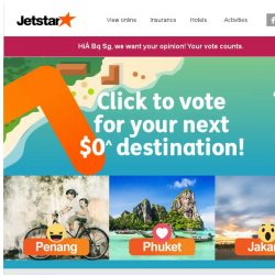 [Jetstar] Bq Sg, which destination do you want for $0^ sale? Vote now!