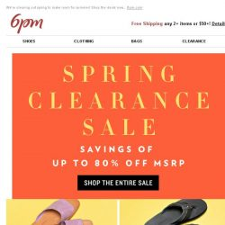 [6pm] Spring Clearance Sale: Up to 80% off!