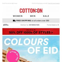 [Cotton On] This EID. Your outfit. 