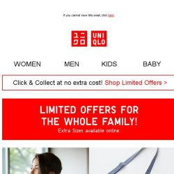 [UNIQLO Singapore] LIMITED OFFERS FOR THE WHOLE FAMILY!