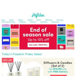 [HipVan] Today's Deal: Diffuser & Candle Sets for $14.90 only!