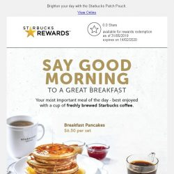[Starbucks] Enjoy a free upgrade to Tall Latte or Cappuccino with any breakfast set purchase ☕