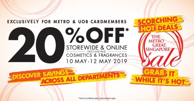 Metro: Great Singapore Sale with 20% OFF Storewide & Online