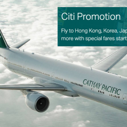 Cathay Pacific: Special Fares to Bangkok, Hong Kong, Tokyo, New York & More from S$228 All-In with Citi Cards