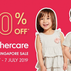 Mothercare: Great Singapore Sale with Up to 70% OFF Baby Essentials, Toys and Clothing