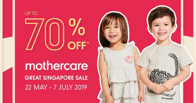c12cb2da7 22 May - 7 Jul 2019 Mothercare: Great Singapore Sale with Up to 70% OFF Baby  Essentials, Toys and Clothing