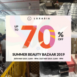 LUXASIA: Summer Beauty Bazaar 2019 with Up to 70% OFF Haircare, Skincare, Makeup & Fragrances!