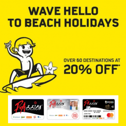 Scoot: Enjoy 20% OFF Over 60 Destinations with PAssion Card!