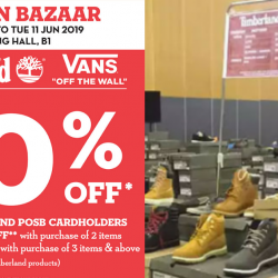 Takashimaya: Fashion Bazaar with Up to 70% OFF Timberland & Vans Products!
