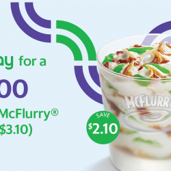 McDonald's: GrabPay for a Chendol McFlurry at Only $1 (UP $3.10)!