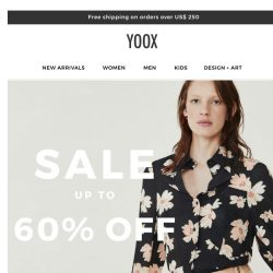 [Yoox] Sale: Now UP TO 60% OFF