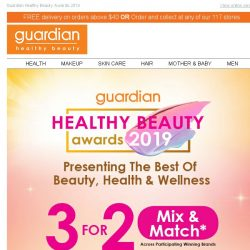 [Guardian]  Our BEST DEALS for Skin Care and Active Beauty!
