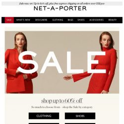 [NET-A-PORTER] Shop up to 60% off – plus Acne Studios now added to Sale