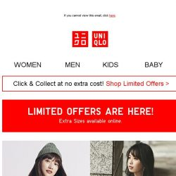 [UNIQLO Singapore] LIMITED OFFERS ARE HERE!