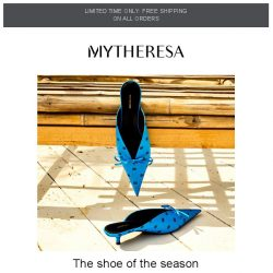 [mytheresa] Must-have mules   Trending pieces of the week + limited time free shipping