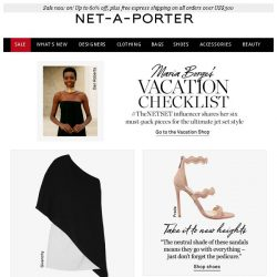 [NET-A-PORTER] Maria Borges shares her 6 vacation packing essentials