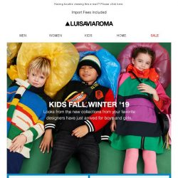 [LUISAVIAROMA] Just in: F/W '19 Collections for Kids